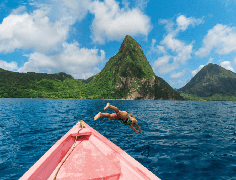 Soufriere Bay, St. Lucia - Photo by Royal Caribbean Cruise Line
