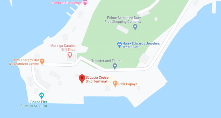 st lucia cruise port map