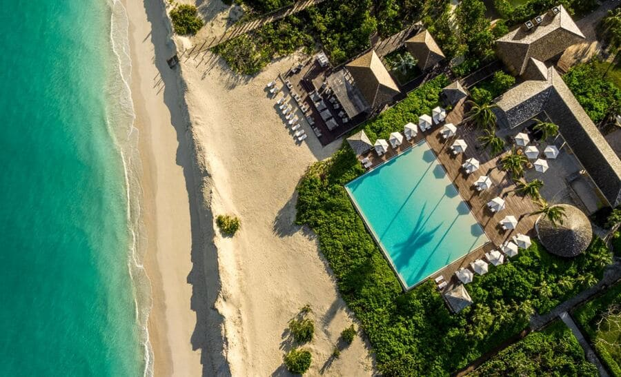 Aerial View of COMO Parrot Cay - Photo by COMO Hotels