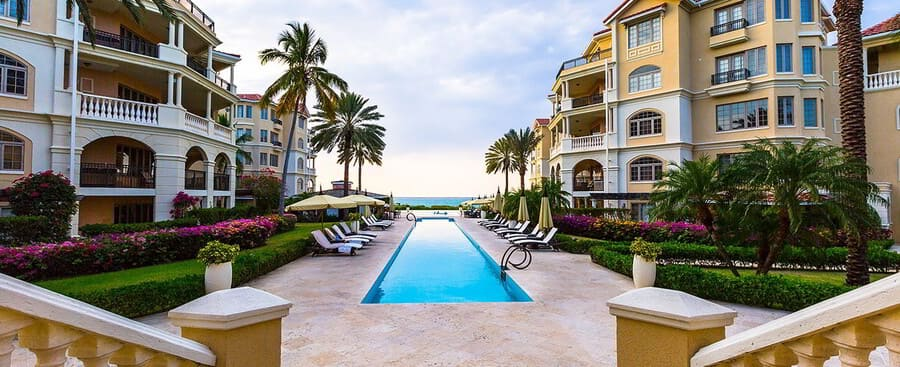 Pool View at The Somerset on Grace Beach - Photo by Somerset Resort