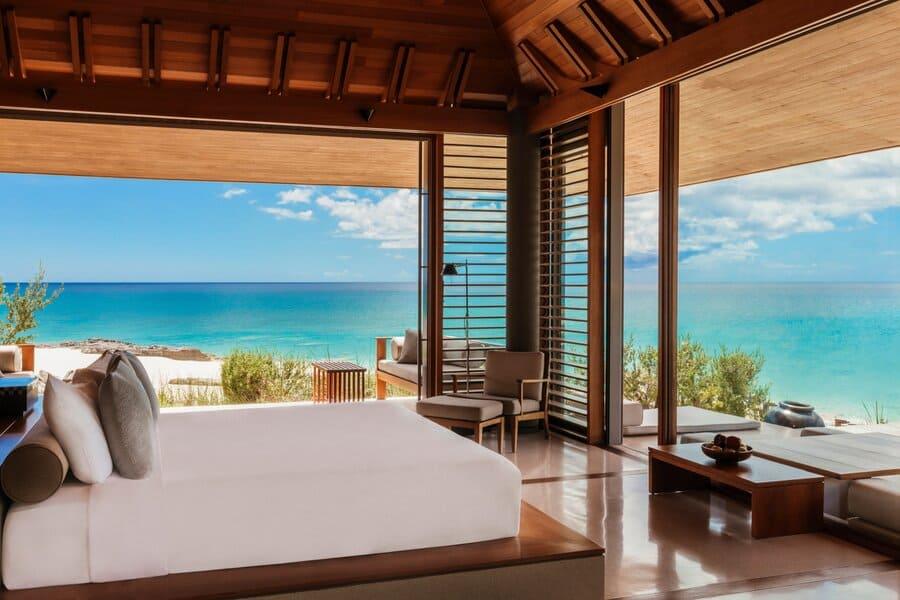 Villa Bedroom View at Amanyara - Photo by Amanyara Resort