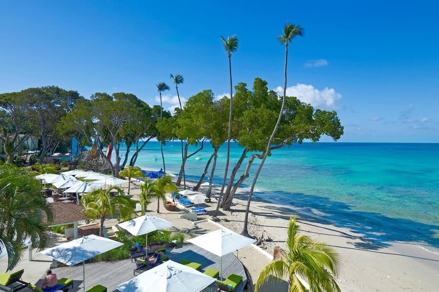 Beach view at Tamarind - Photo by Elegant Hotels