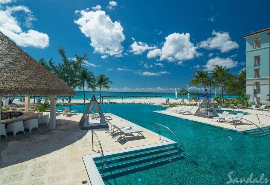 Pool area at Sandals Royal Barbados - Photo by Sandals Resorts