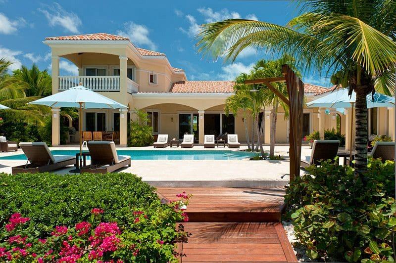 Beachside view of Mirabelle Villa and Pool - Photo credit Villa Mirabelle