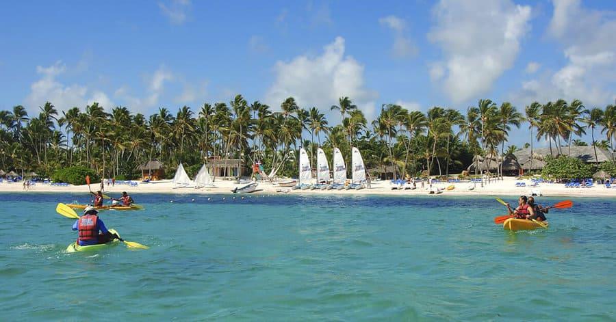 Guests enjoying kayaking - Photo credit Meliá Caribe Beach Resort