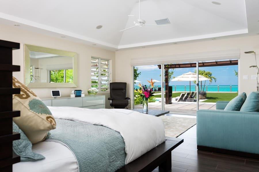 Master Bedroom Views at Conch Villas - Photo credit Caribiquevillarentals