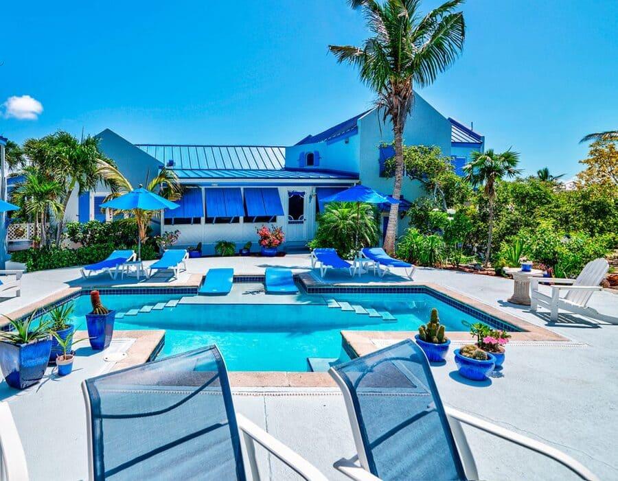Pool Area at Jacaranda Villa - Photo credit Grace Bay Beach Ocean Villas