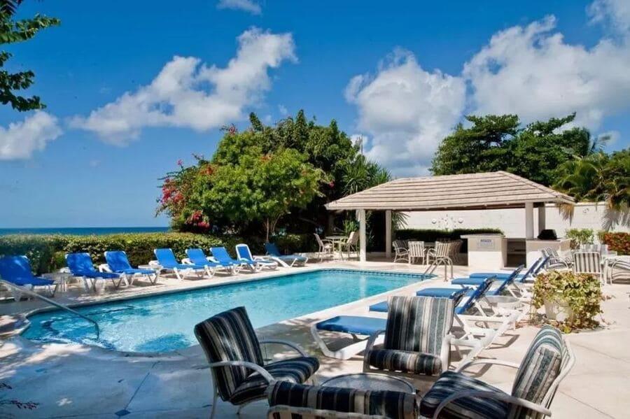 Pool at Oyster Bay Villa - Photo credit Booking