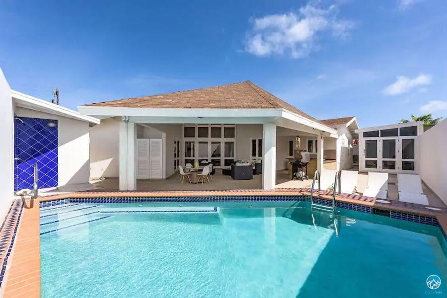 Pool at Palm Beach Villa - Photo credit Vrbo