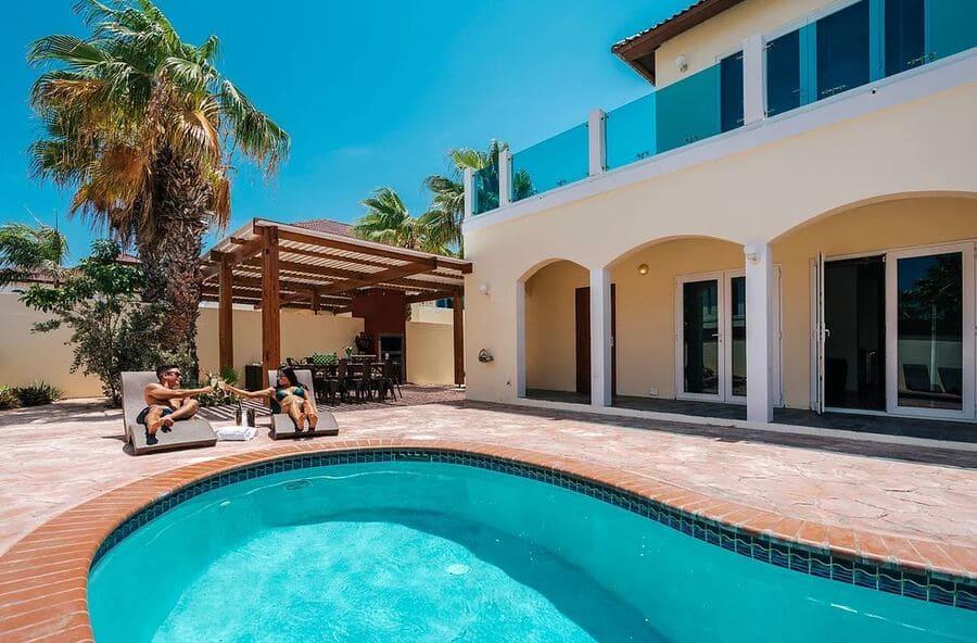 Private Pool - Photo credit Merlot Villas Aruba