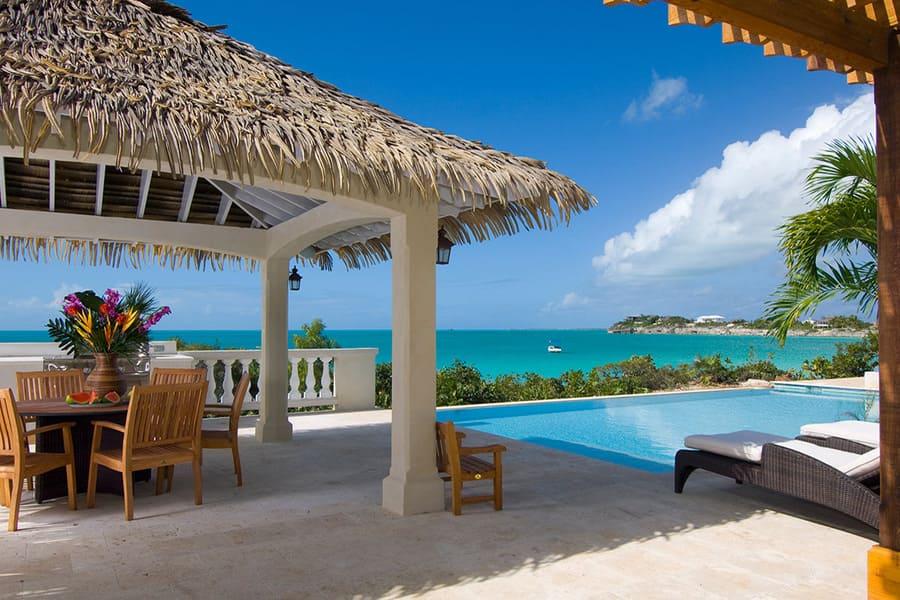 View from pool area at Villa Lynda