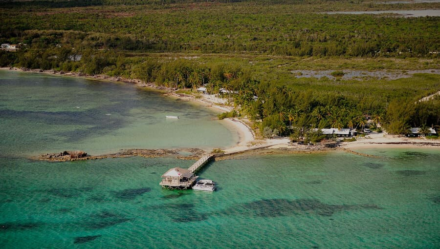 Aerial view - Photo credit Small Hope Bay Lodge