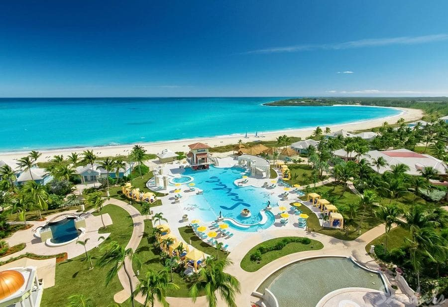 Aerial view of Sandals Emerald Bay - Photo credit Sandals Resorts