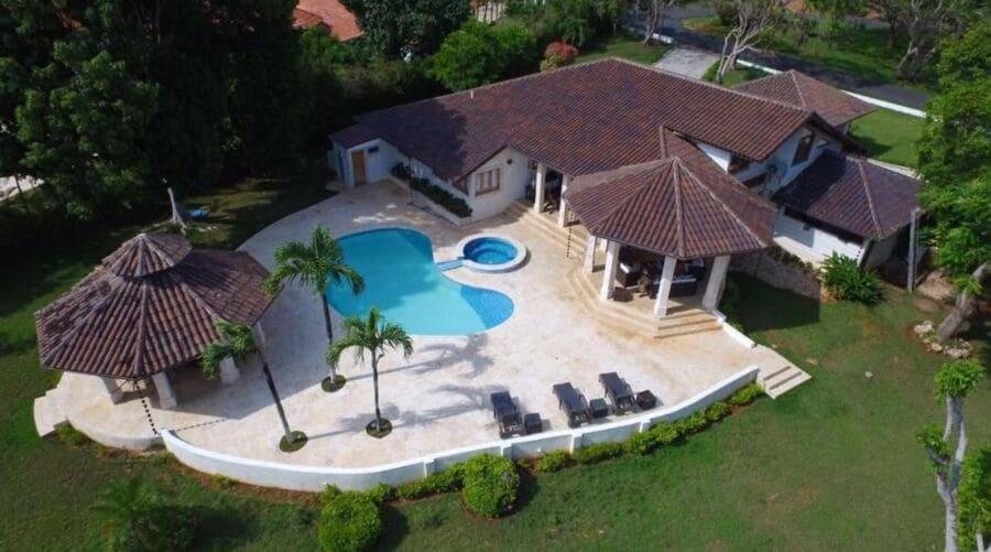 Aerial view of Villa Maud, La Romana - Photo credit Booking