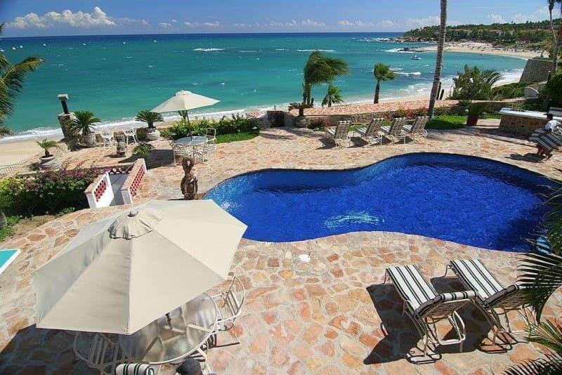 Aerial view of pool area at Mi Corazon Villa - Photo credit Exceptionalvillas