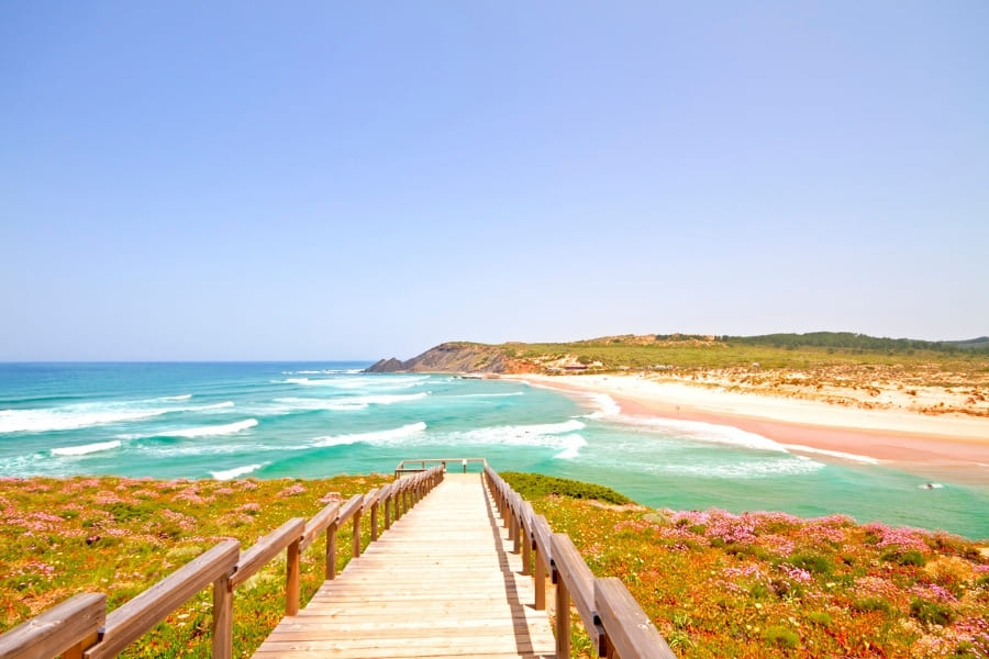 Amoreira beach in the Algarve, Portugal