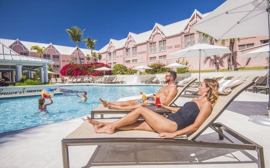 Family having fun at the pool - Photo credit Comfort Suites Paradise Island