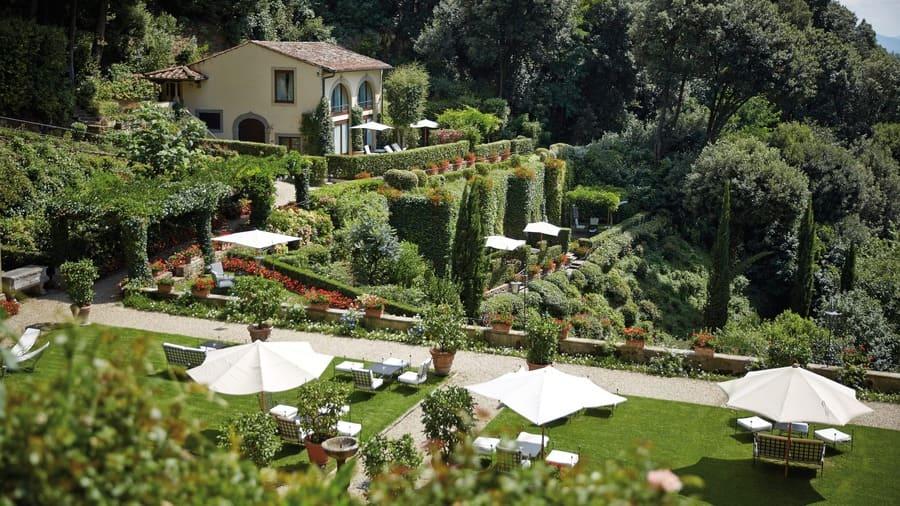 Garden bar at Villa San Michelle, Florence - Photo credit Belmond