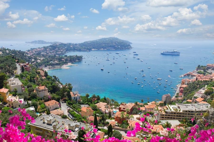 Landscape of Riviera Coast, Cote DAzur, France