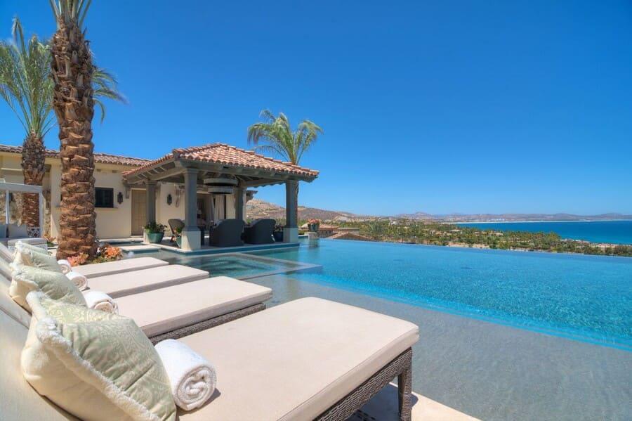 Pool area at Casa Luna Escondida - Photo credit Villasofdistinction