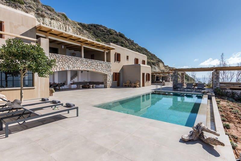 Pool area at Villa Callirrhoe, Crete Greece - Photo credit ExceptionalVillas
