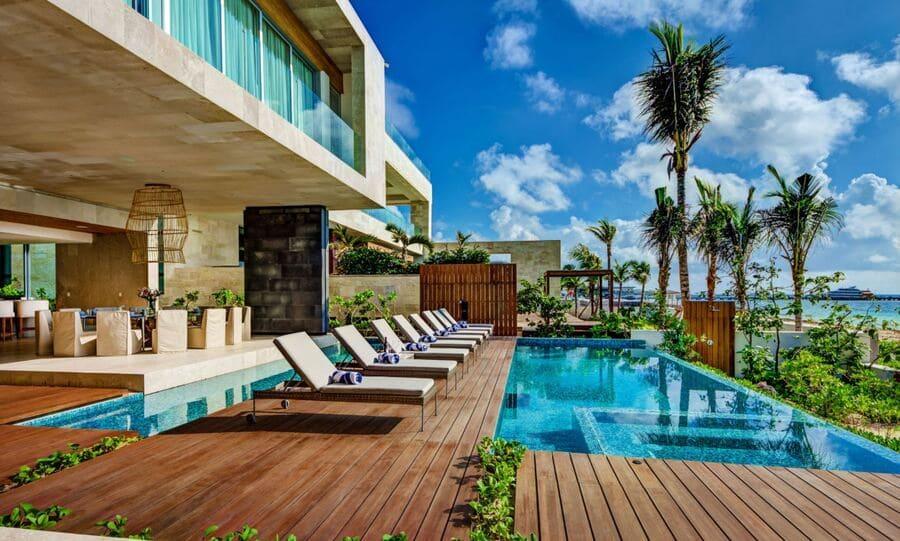 Pool area at Villa Kin Ich - Photo credit Exceptionalvillas