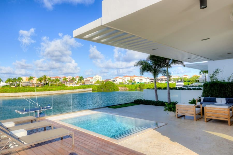 View from pool area at Ocean Eleven Cap Cana - Photo credit Exceptionalvillas