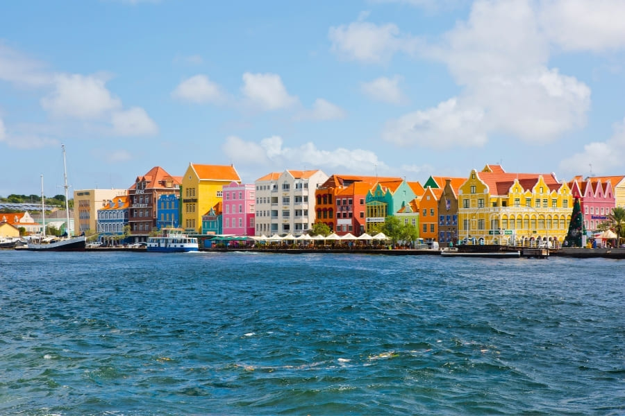 Colorful architecture in Curacao